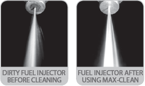 MAX-CLEAN Cleans Fuel Injectors